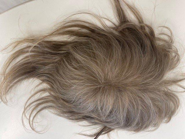 Herenhaarstuk Europees haar met grijs